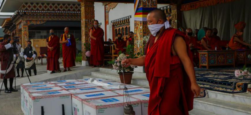 Бутан полностью вакцинирует 90% взрослых в течение недели