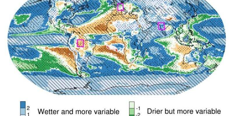 Количество осадков становится все более изменчивым по мере потепления климата